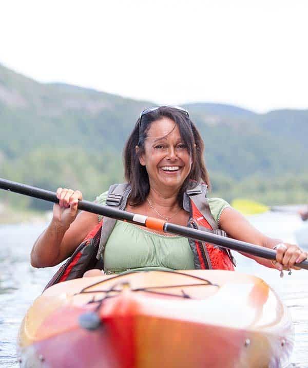 midlife woman enjoying life